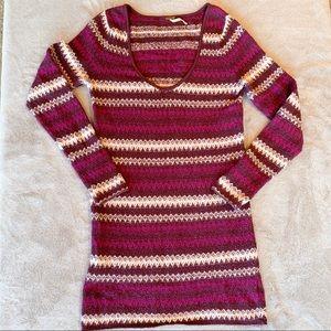Free People Fair Isle Sweater Tunic Dress Large